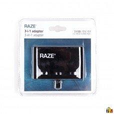 Тройник прикуривателя RAZE с 2 USB разъемами 3.1A
