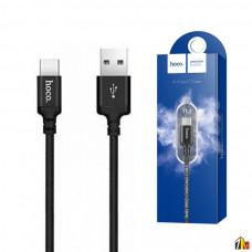 Кабель USB - Type-C HOCO X14 Times speed, 1.0м, круглый, 2.0A, ткань, цвет: красный