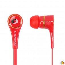 Наушники Coman CM-09 3.5 mm с микрофоном, арт.008685/008780
