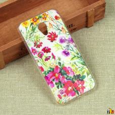 Силиконовый чехол с цветами для Meizu M5