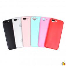 Силиконовый чехол с вырезом-сердечком для iPhone 7/8 Plus