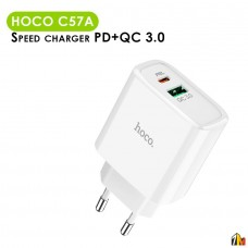Сетевое зарядное устройство Hoco C57A PD+QC 3.0