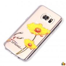 Силиконовый чехол со стразами для Samsung Galaxy S7