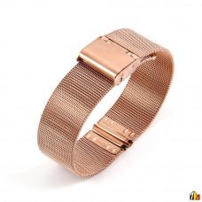 Ремешок металлический для Samsung Galaxy Watch 18мм Розовое золото