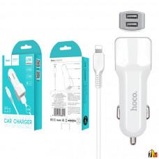 Автомобильное зарядное устройство Hoco Z23 для iPhone
