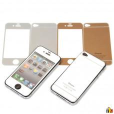 Защитное стекло цветное 2 в 1 для iPhone 4/4S