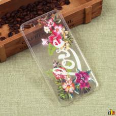Силиконовый чехол с цветами для Meizu U20