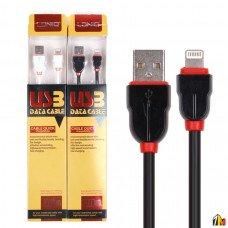 USB-Lightning дата кабель LDNIO LS02, 2м