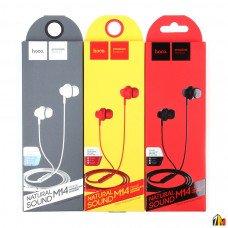 Наушники внутриканальные HOCO M14, Inital Sound, микрофон, кабель 1.2м, цвет: чёрный (1/30/300)