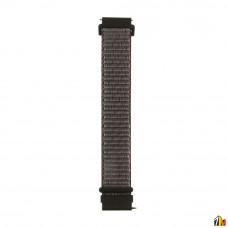Ремешок Нейлоновый для Samsung Galaxy Watch 20мм Черный+серый