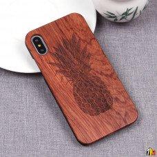 Чехол из дерева для iPhone X
