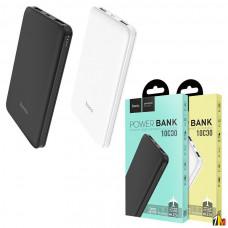 Аккумулятор внешний HOCO J26, Simple Energy, 10000mAh, пластик, 2 USB выхода, 2.1A, цвет: чёрный