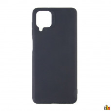 Чехол для Samsung Galaxy A12 черный силиконовый с защитой камеры