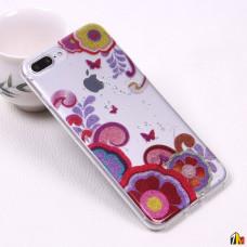 Силиконовый чехол с блестками для iPhone 7 Plus