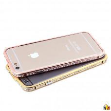 Бампер со стразами для iPhone 6/6s