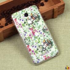 Силиконовый чехол с цветами для Xiaomi Redmi Note 3/3 Pro