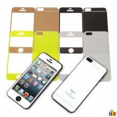Защитное стекло цветное 2 в 1 для iPhone 5/5S