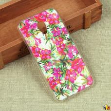 Силиконовый чехол с цветами для Meizu M5 Note