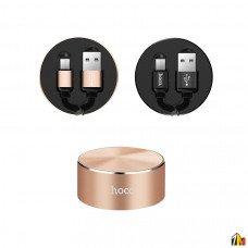 Кабель-рулетка 2 в 1 Micro+Tape-C Hoco U23