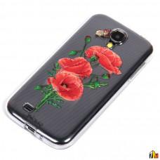 Силиконовый чехол Цветы для Samsung i9500 Galaxy S4