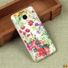 Силиконовый чехол с цветами для Meizu M3/M3S