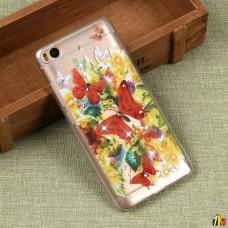 Силиконовый чехол с цветами для Xiaomi Mi5S