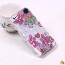 Силиконовый чехол с блестками для iPhone 5/5S