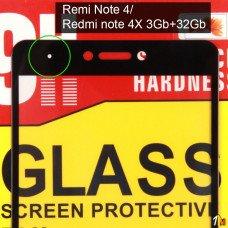 Защитное стекло для Xiaomi Redmi Note 4/ Note 4X 3Gb+32Gb на полный экран без упаковки
