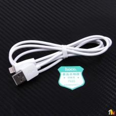 Кабель USB - Apple 8 pin HOCO X1 Rapid series, 1.0м, круглый, 2.1A, силикон, цвет: белый