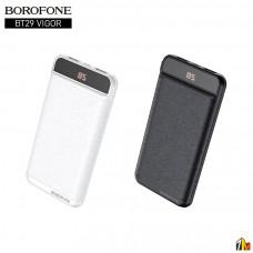 Аккумулятор внешний Borofone BT29, Vigor, 10000mAh, пластик, 2 USB выхода, дисплей, 2.0A, цвет: чёрн