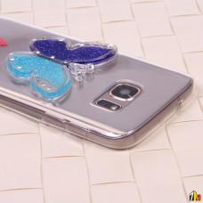 Чехол силиконовый Бабочка  для Samsung Galaxy S7