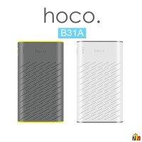Аккумулятор внешний HOCO B31A, Rege, 30000mAh, пластик, 2 USB выхода, индикатор, 2.1A, цвет: серый (