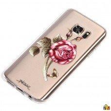 Силиконовый чехол Цветы для Samsung Galaxy S7