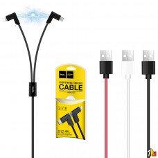 Кабель 2 в 1 Hoco X12 магнитный Lightning и Micro USB