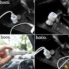 Автомобильное зарядное устройство Hoco Z23 micro USB