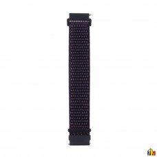 Ремешок Нейлоновый для Samsung Galaxy Watch 20мм Темно-синий