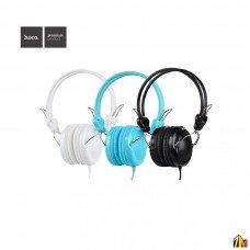 Наушники полноразмерные HOCO W5, Manno, микрофон, кабель 1.2м, цвет: белый
