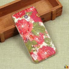 Силиконовый чехол с цветами для Meizu MX6