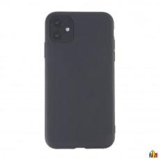 Чехол для iPhone 11 черный силиконовый с защитой камеры
