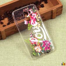 Силиконовый чехол с цветами для ASUS ZenFone 3 Max ZC553KL